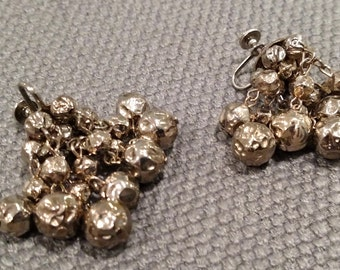 Vintage Dangling Earrings - Silver in color