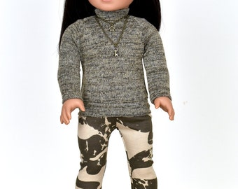 Turtle Neck  Sweater 18 inch doll clothes