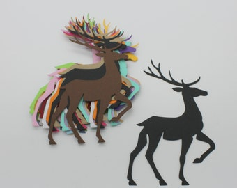 Reindeer Christmas: set of die - cut cut-outs