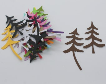 Duo of Christmas trees: set of die - cut cut-outs
