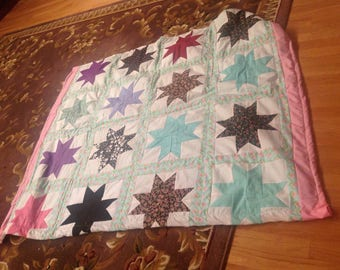 Stars quilted throw