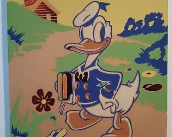 Donald Duck Going to School