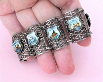 Wonderful Vintage Italian Souvenir Panel 'San Marino' Bracelet