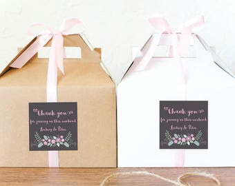 10 - Out of Town Guest Favor Boxes / Hotel Guest Welcome Boxes / Set of 10 Gable Wedding Box GBW-84