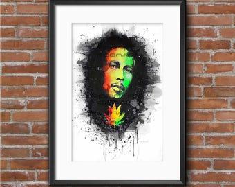 Bob Marley // Acrylic // Prints&Original