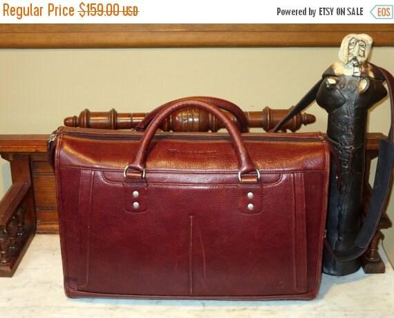 Football Days Sale Ellington of Portland Oregon Rich Brown Cordovan Leather Briefcase- VGC