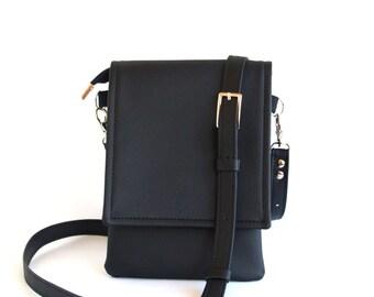 Black Small Crossbody Bag Cell Phone Bag Crossbody Phone Case Iphone Case Cell Phone Purse IPhone Wallet Purse Small Travel Bag Phone Bag