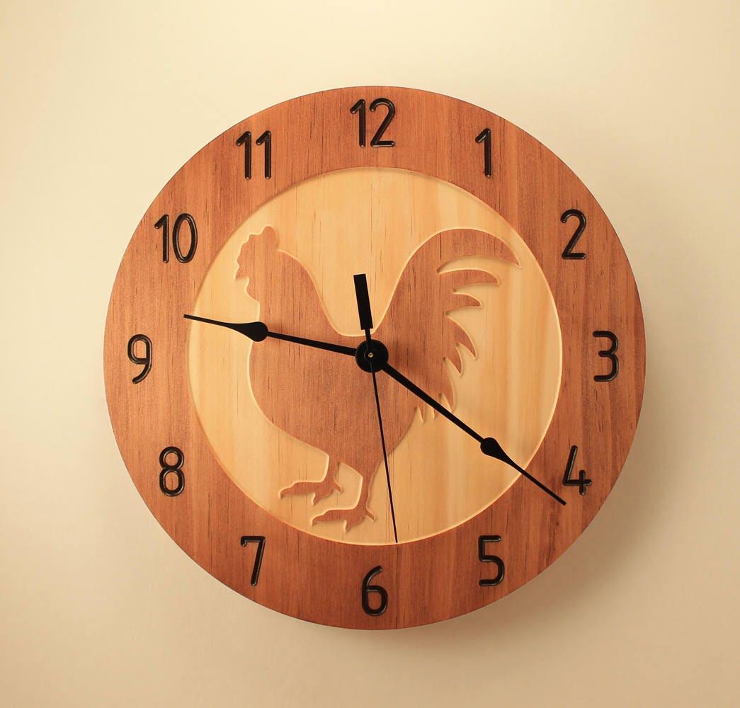 Retro Kitchen Wall Clocks Kitchen Wall Clock Etsy