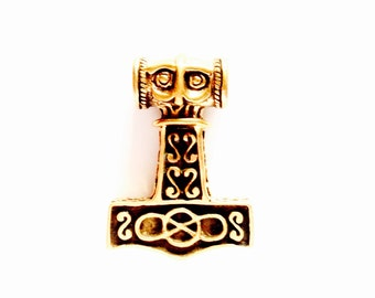 Large Thor's Hammer from Odeshog, Sweden VIKING KRISTALL Bronze Pendant