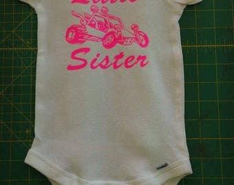 Infant Onsie, Little Sister, VWs Style