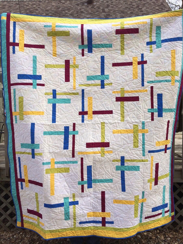 Scrap Quilt Patterns For Beginners : Tortilla Strips, Quilt Pattern, Beginner Quilt Pattern, Scrap Quilt, Strip Quilt, by Atkinson ...