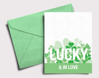 Lucky & In Love - Downloadable St. Patrick's Day card