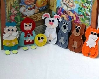 The bun, fairy tales, doll theatre, fairy heroes, gift for kids