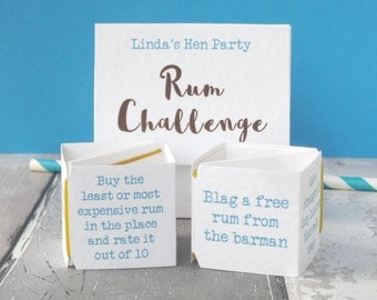 Pop Up Rum Challenge Hen Weekend Activity - Game for Hen Party - Funny Hen Do Game - Hens Night Game - Rum Party Game - Hen Party Dares