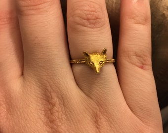 SALE Antique fox ring