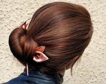 Calla lily hairstick, hairpin, hair chopstick, flower accessory, prom hair accessory, wedding hair flower, flower hair pick, metal flower