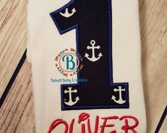 Nautical 1st birthday-anchors