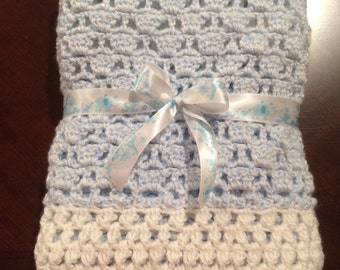 Super Soft Crochet Baby Blanket, 26x30