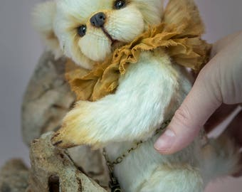 Artist teddy bear by Elena Stanilevici mohair and viscose OOAK