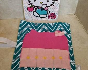 Easter Basket Gift, Coloring Book Holder, Birthday Gift, Crayon Roll, Crayon Bag, Crayon Organizer, Kids Travel Bag, Kids Gift, Easter Gift