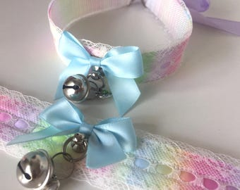 Unicorn Rainbow Lace Kitten Play Collar
