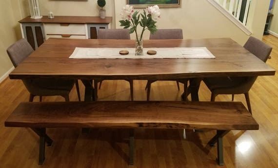 Handcrafted Live Edge Walnut Dining Tables