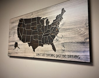 Us Map Wall Art wood us map wall art carved united states map us map with
