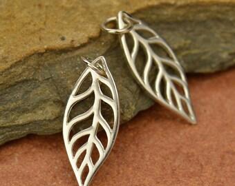 Sterling Silver Leaf Charm Pendant 925 Sterling Silver Nature Tree Botanical Necklace