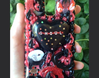 Samsung Galaxy S5 Black and Red Ghoul Case