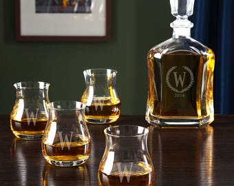 Glencairn Canadian Whiskey Set with Statesman Argos Decanter - Canadian Whiskey Lovers, Great gift ideas