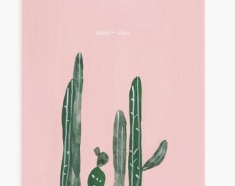 Pink Cactus Notebook Journal