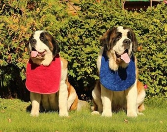 Big dog slobber / drool bib plain in selected colours