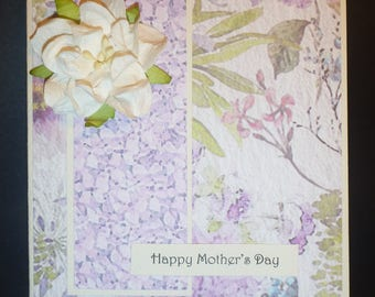 Mauve Floral Mother's Day Card 2462