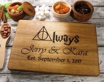 Bridal Shower Gift Wedding Gift Always Harry Potter Bridal Shower Gift Wedding Gifts for couple Personalized Bridal Gift Cutting Board