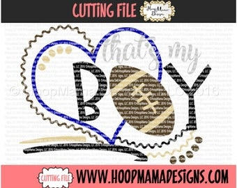 Thats My Boy Football SVG DFX EPS and png Files for Cutting Machines Cameo or Cricut Cutting FIle For Commercial Use