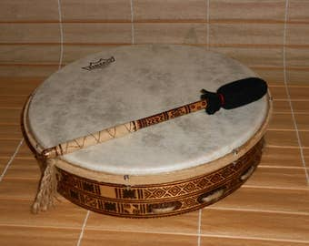 14'' Shaman Drum with stick - Orion calendar