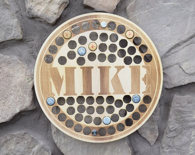 Personalized Round Beer Cap Holder