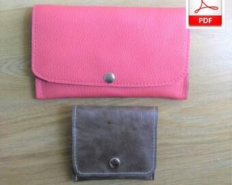 Leather Pattern PDF, 2 Leather Pattern Wallet, Pattern Wallet, PDF Pattern Leather Wallet