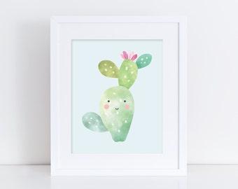 Cute as a Cactus - Nursery Print - Children's Wall Art - Baby Nursery Decor