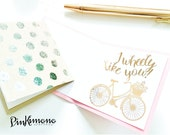 Lil Notes - Set of 5 Mini Note Cards | Lunch Box Notes | Care Package Note | Love Note | Foiled