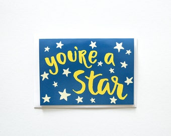 You're a Star Greeting Card, Friendship, Love