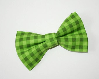 Dog BOW TIE, Dog Bowtie, Bow Tie, Plaid Bow Tie, Green Dog Bow Tie, Green