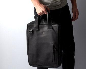 Leather Briefcase , Leather Bag, laptop bag, Messenger Bag, Computer bag. Laptop bag, Personalized gifts for men. Mens bags NAVA VERTICAL.
