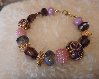 Magestic Purple and gold bracelet