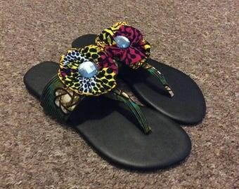 African Ankara Slippers size 39