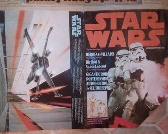 original STAR WARS monthly poster magazine , 1977