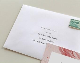 Simple Modern Envelope Printing   Simple Envelope Printing, Custom Envelope Addressing, White Wedding Envelope, Envelope Printing