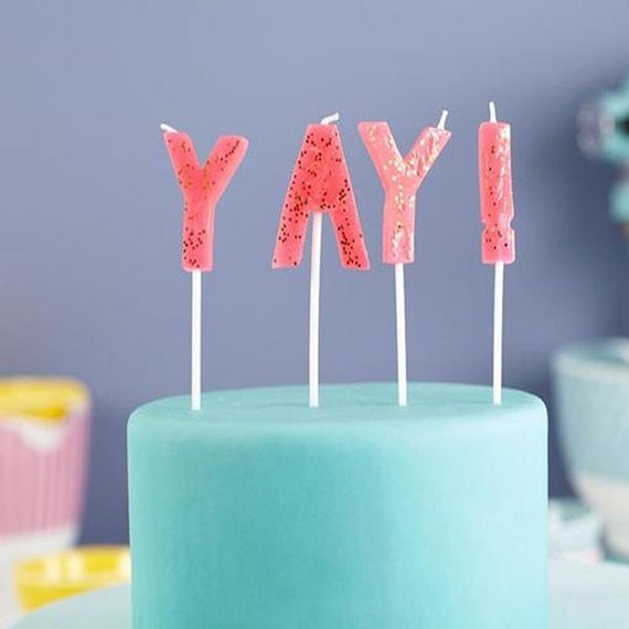 Yay Candle by Meri MeriPink Birthday CandleBirthday Candles