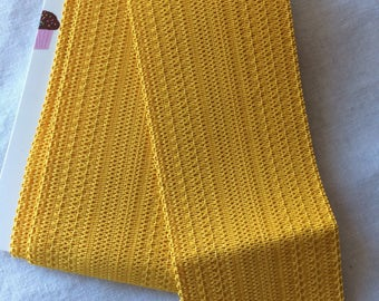"Wide Yellow Gold Elastic Trim 2-1/2"" wide x 3/4 yard long"