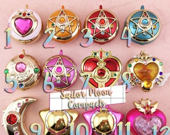 Custom Sailor Moon Compact Brooch Transformation Decoden Case Made-to-Order Phone Case - iPhone, Galaxy, Samsung & Others